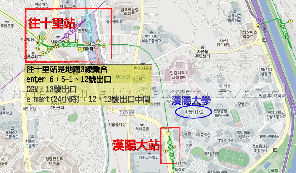 往十里站map