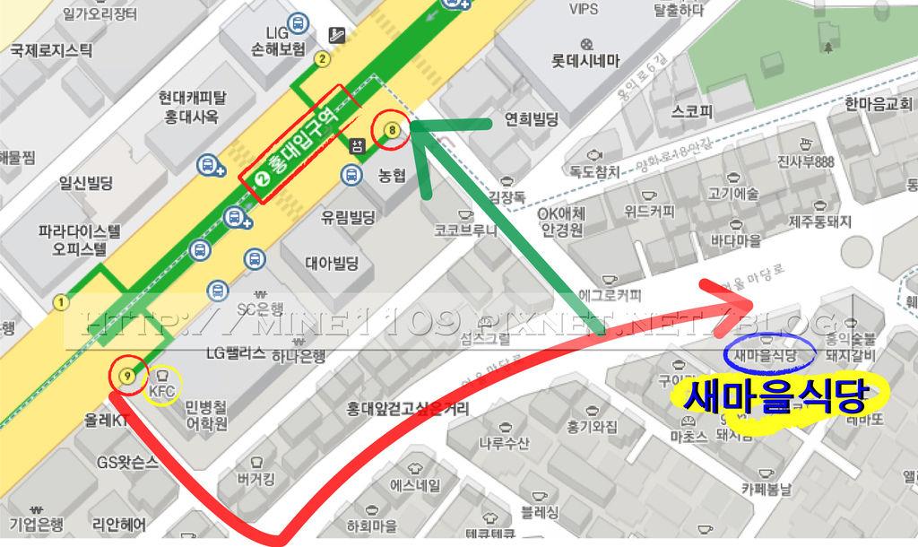弘大map