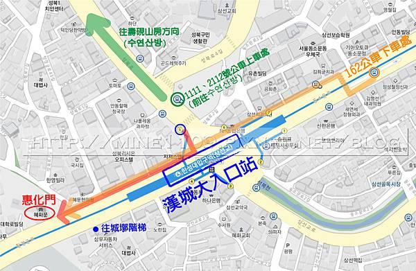 漢城大入口站map