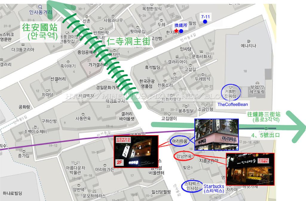 南仁寺洞map