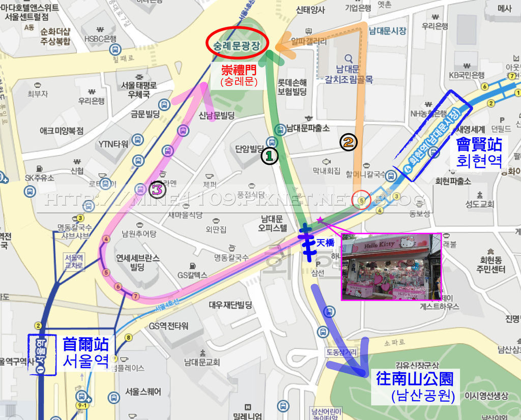 南大門map