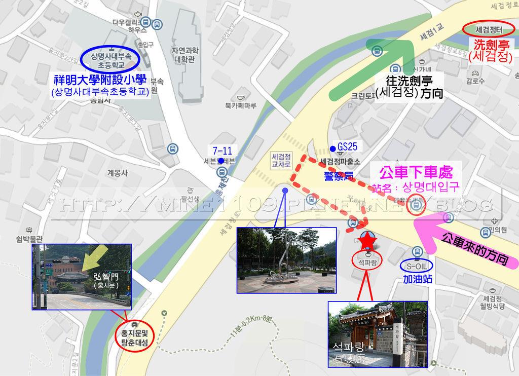石坡廊地圖