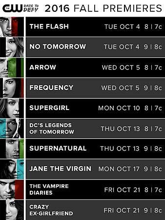 CW 2016 fall schedule