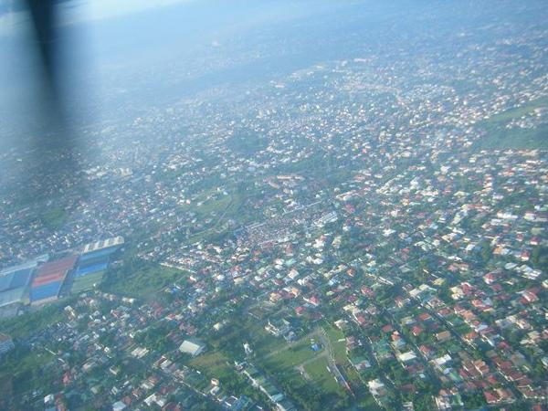 在馬尼拉的上空