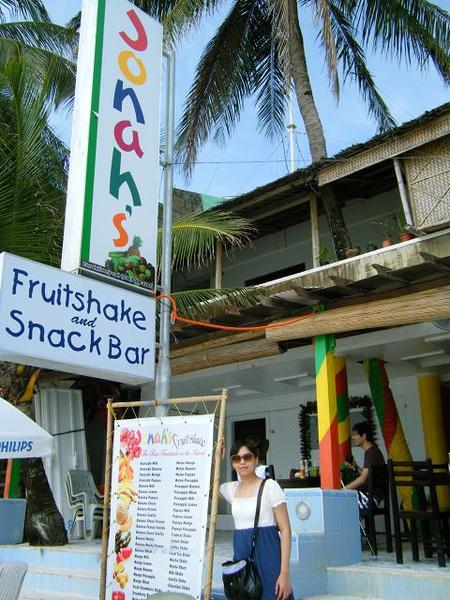 長灘島第一名的fruit shake專賣店