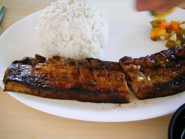 王先生點的烤豬飯