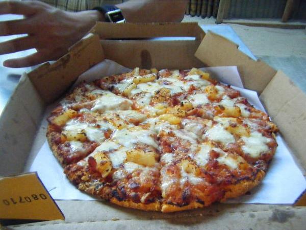 8吋的夏威夷pizza