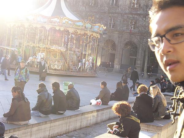 法語:Hôtel de Ville  巴黎市政廳外廣場.JPG