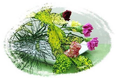 盤上ㄉ康乃馨