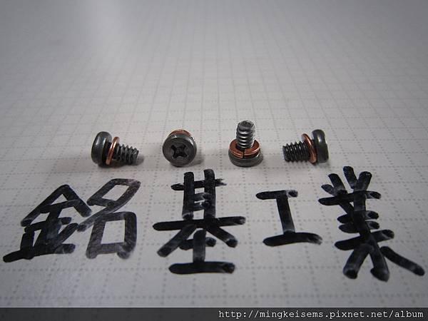 套華司螺絲組合SEMS SCREW 薄頭十字螺絲套附彈簧華司組合M6#X6 THIN HEAD SCREW WITH SPRING WASHER ASSEMBLED