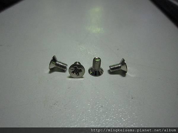 埋頭(沙拉頭)螺絲 M3X6 COUNTERSUNK SCREWS