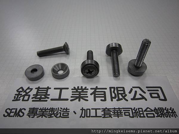 組合螺絲SEMS  皿頭十字螺絲套附凹型華司組合M5X25 PAN HEAD SCREW WITH CONCAVE WASHER ASSEMBLED