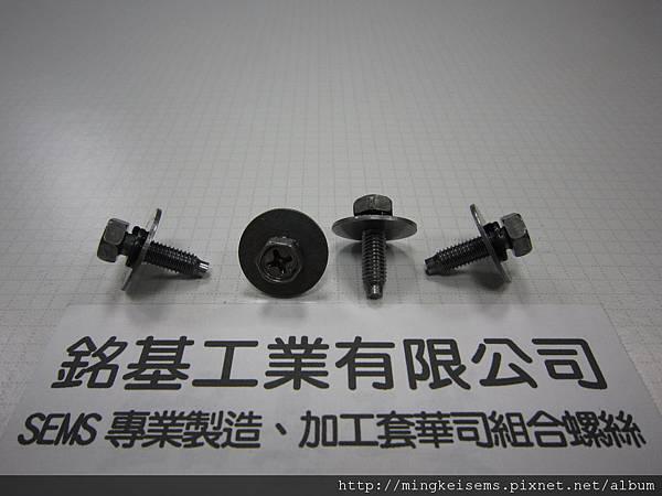 套華司螺絲SEMS  六角十字螺絲套附二片華司組合M5X17  HEX HEAD SCREWS WITH SPRING+FLAT WASHERS ASSEMBLED