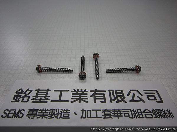 附華司螺絲SEMS 圓頭十字螺絲套附外齒華司組合M3X25 PHILIPS HEAD SCREWS WITH EXTERNAL TOOTHED LOCK WASHER COMBINATIONS