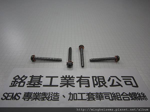 附華司螺絲SEMS 圓頭十字螺絲套附外齒華司組合M3X25 PHILIPS HEAD SCREWS WITH EXTERNAL TOOTHED LOCK WASHER COMBINATIONS
