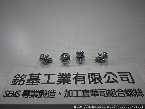 附華司螺絲SEMS 內梅花螺絲套附二片墊圈組合M4X8 TORX SCREWS WITH SPRING+FLAT WASHERS COMBINATIONS