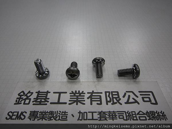 組合螺絲 SEMS SCREWS 圓頭十字螺絲套附外齒華司(墊圈)組合 M12#X1/2
