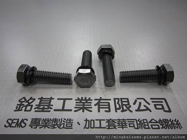 套華司螺絲 SEMS SCREWS 六角螺絲套附彈簧華司DIN127組合 M8X30 HEX HEAD SCREWS & SPRING WASHERS ASSEMBLED