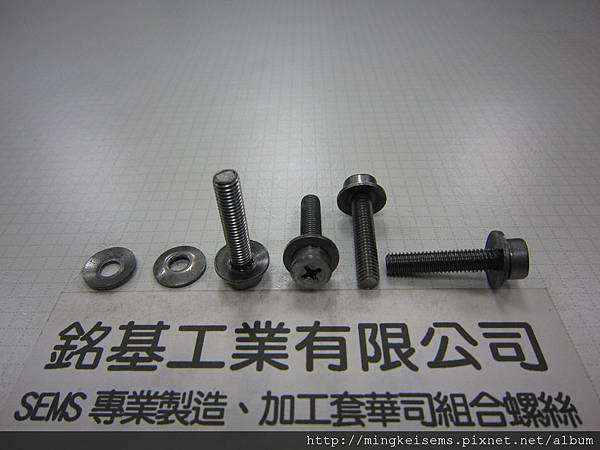 套華司螺絲SEMS SCREWS 厚頭十字螺絲套附皿型華司組合M5X25 THICK HEAD SCREWS & CONICAL WASHER(DIN 6908)ASSEMBLED