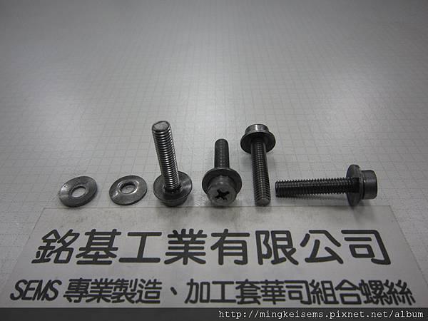 套華司螺絲SEMS SCREWS 厚頭十字螺絲套附皿型華司組合M5X25 THICK HEAD SCREWS & CONICAL WASHER(DIN 6908)ASSEMBLED