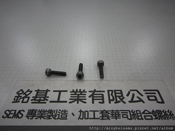 合金有頭內六角螺絲   M3X12 ALLOY STEEL HEX SOCKET CAP SCREWS