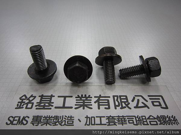 組合螺絲 SEMS SCREWS 調質六角螺絲套附平華司組合M8X20 QUENCHED AND TEMPERED HEX HEAD SCREWS & FLAT WASHER ASSEMBLED