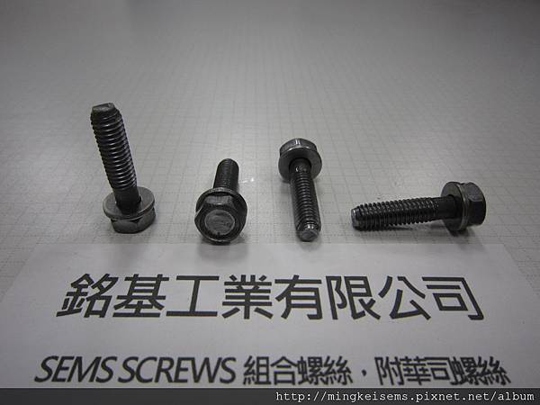 附華司螺絲SEMS SCREWS 六角螺絲(半牙)套附平華司組合M6X25 HEX HEAD SCREWS & FALT WASHER ASSEMBLED
