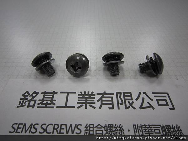 附華司螺絲SEMS SCREWS 傘頭螺絲套附彈簧華司和平華司組合M6X10 TRUSS HEAD SCREW & SPRING+FLAT WASHERS ASSEMBLED