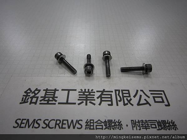 組合螺絲 SEMS SCREWS 有頭梅花孔螺絲套附二片華司組合(波型双弓華司DIN6905+平華司DIN125A)TORX SCREWS & WAVE+FLAT WASHERS ASSEMBLED