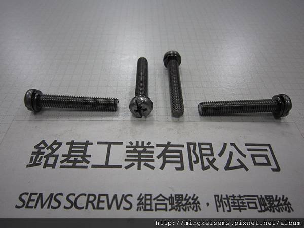 附華司螺絲SEMS SCREWS 厚頭十字一字螺絲套附彈簧華司(墊圈)組合M5X30 PAN HEAD SCREWS & SPRING WASHER ASSEMBLED