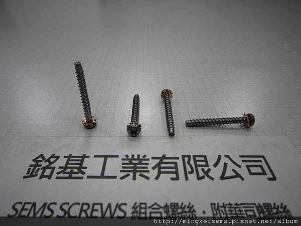 組合螺絲SEMS SCREWS 圓頭三角自攻牙螺絲套附外齒華司組合M3X25 PAN HEAD SELF TAPPING TRILOBULAR THREAD & EXTERNAL TOOTHED LOCK WASHER ASSEMBLY