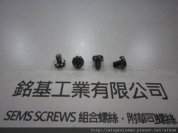 SEMS SCREWS 套華司螺絲 B頭十字一字兩用螺絲套附外齒華司組合M3.5X6 B HEAD SCREWS & EXTERNAL TOOTHED LOCK WASHER ASSEMBLED