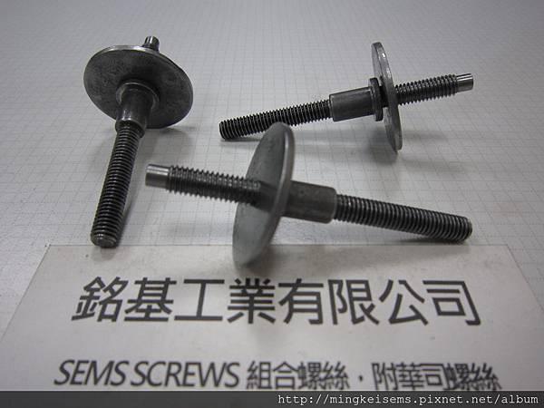 組合螺絲 SEMS SCREWS 雙頭牙螺絲套附平華司(30X2m/m)組合 M6X71