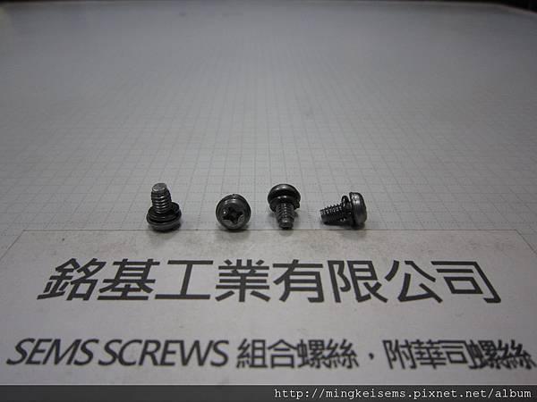 套華司螺絲SEMS SCREWS 華司圓頭套附彈簧華司(墊圈)組合M4X6.7 PAN WASHERS HEAD SCREWS & SPRING WASHER COMBINATIONS
