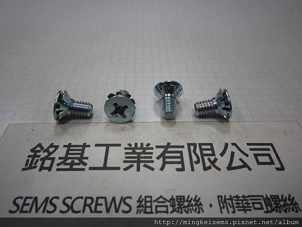 螺絲套華司 SEMS SCREWS 皿頭螺絲套附皿型外齒華司組合 M6X12 COUNTERSUNK HEAD SCREWS & COUNTERSUNK EXTERNAL TOOTHED LOCK WASHER ASSEMBLED