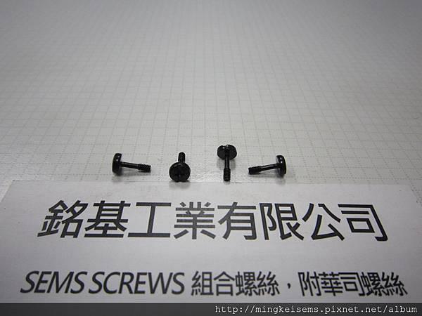 FASTENER SCREWS 緊固件螺絲  岡山頭半牙螺絲 FILLISTER SCREWS 電鍍三價黑 M2X8