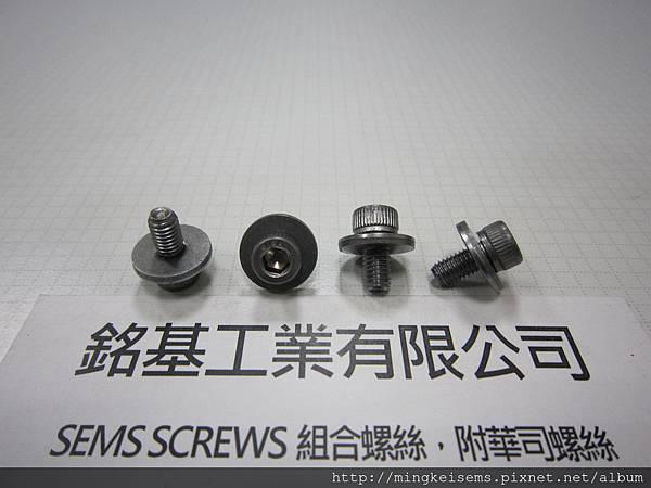 SEMS SCREWS  附華司螺絲 有頭內六角螺絲附平華司組合 M5X10 HEX SOCKET CAP SCREWS WITH FLAT WASHERS ASSEMBLIES