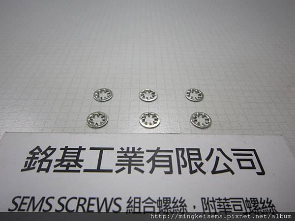 SEMS Washer DIN 6797 J 螺絲附華司用的內齒華司 DIN 6797 J Internal Toothed Lock Washer