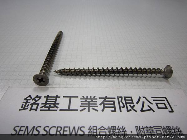緊固件螺絲 FASTENER SCREWS 白鐵皿頭十字自攻牙尖尾螺絲 M6X76 STAINLESS STEEL PAN HEAD SELF TAPPING SCREWS