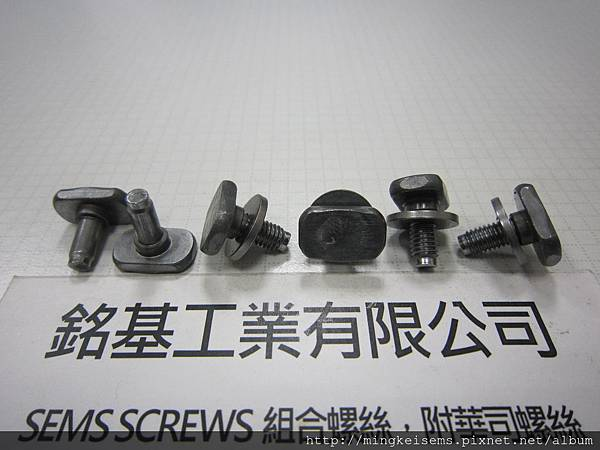 附華司螺絲 SEMS SCREWS 方型頭螺絲附平華司組合 M5X10 SQUARE HEAD SEMS SCREWS WITH FLAT WASHERS ASSEMBLIES