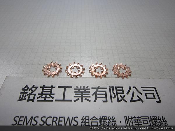 電銅內外齒華司 INTERNAL EXTERNAL TOOTHED LOCK WASHERS