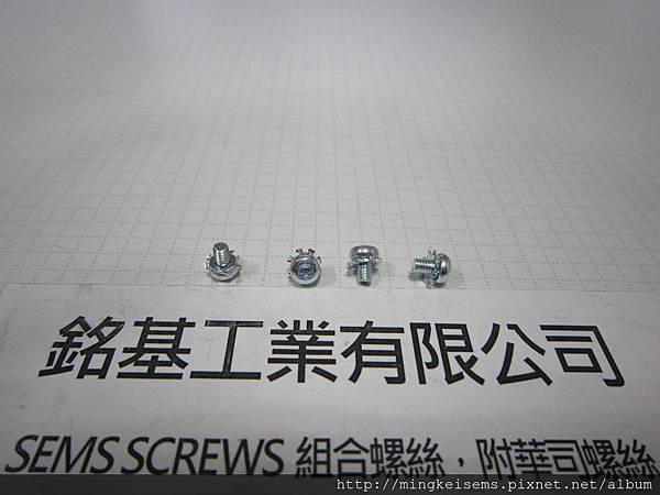 SEMS SCREWS 組合螺絲 內梅花T8岡山頭螺絲套附外齒華司組合 M2.5X4  TORX FILLISTER SEMS SCREWS WITH DIN6797 A EXTERNAL TOOTHED LOCK WASHERS ASSEMBLED
