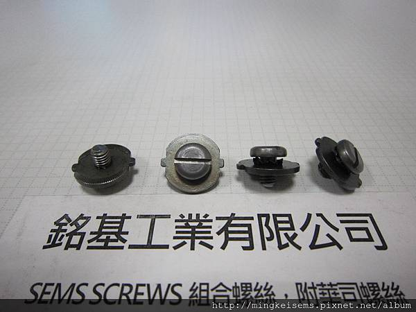 附華司螺絲 SEMS SCREWS 圓頭螺絲附外齒華司和特殊華司組合 M10#X5/16 PAN HEAD SEMS SCREWS WITH EXTERNAL TOOTHED LOCK WASHERS +SPECIAL WASHERS ASSEMBLED