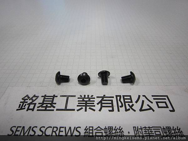 緊固件螺絲 FASTENER SCREWS 半圓頭內六角孔螺絲 M4X6  BUTTON HEAD SOCKET CAP SCREWS