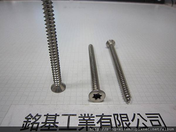 緊固件螺絲 FASTENER SCREWS 白鐵梅花孔皿頭自攻尖尾螺絲 M5.5X80 M/M STAINLESS STEEL TORX SELF TAPPING SCREWS