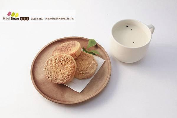 迷你豆 有機鮮豆漿+圓型豆漿土司(香濃花生)