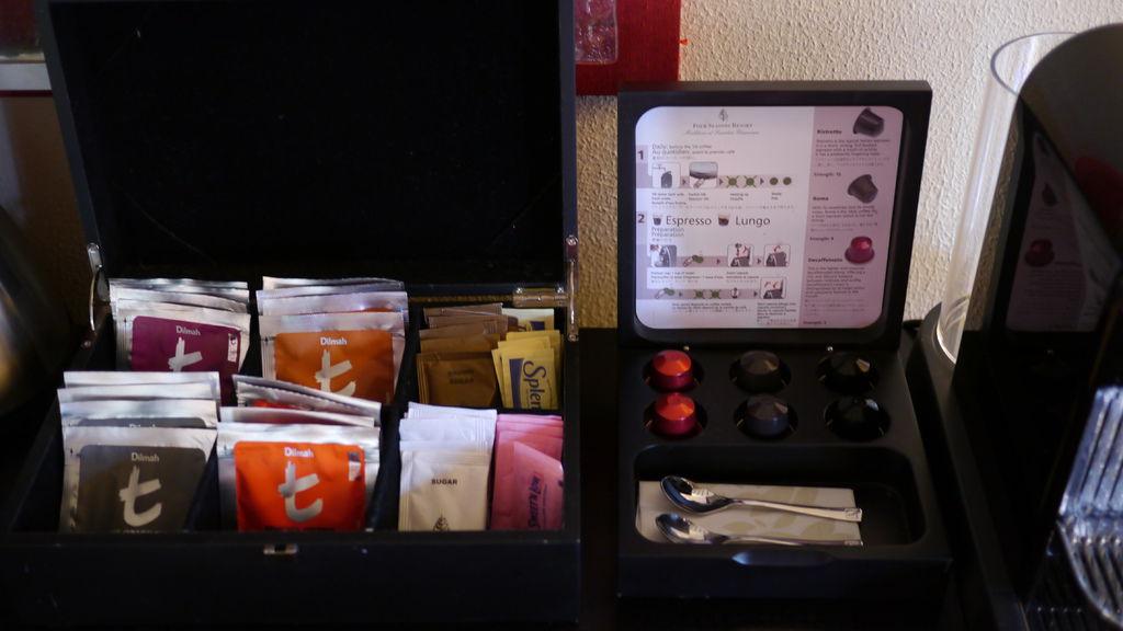 免費的茶包與咖啡膠囊