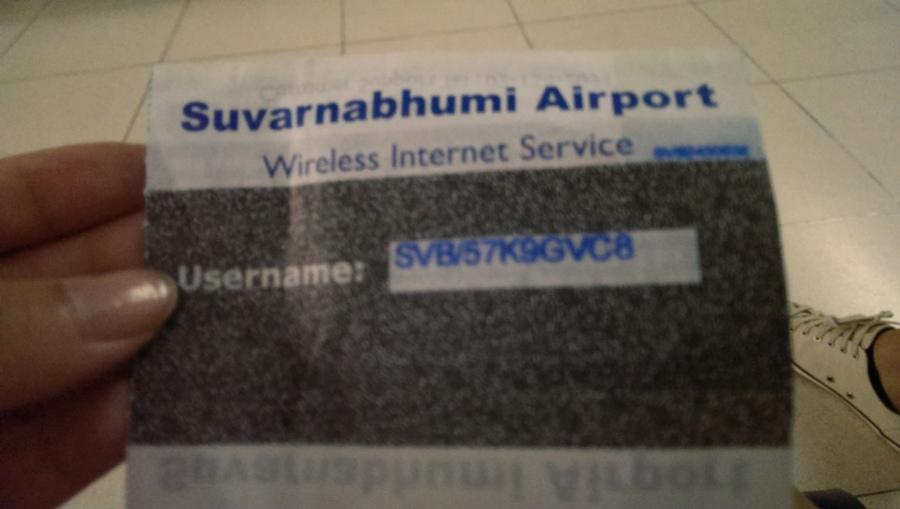 記得在曼谷機場服務台可以拿wifi密碼
