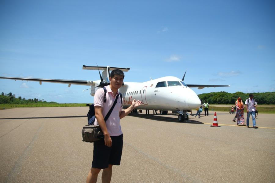 很喜歡跟飛機拍照