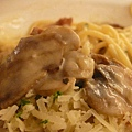奶油培根磨菇麵